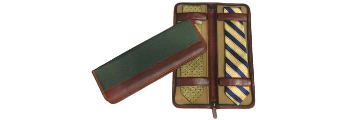 Tie Case with two ties open and closed